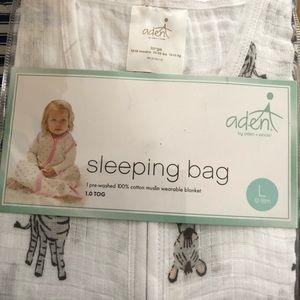 Aden + Anais zebra print sleeping bag